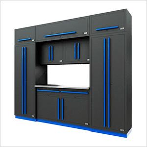 Fusion Pro 9-Piece Garage Cabinet System (Blue)