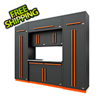 Proslat Fusion Pro 9-Piece Garage Cabinet System (Orange)