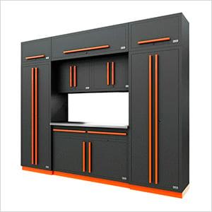 Fusion Pro 9-Piece Garage Cabinet System (Orange)