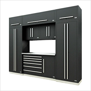 Fusion Pro 9-Piece Tool Cabinet System (Silver)