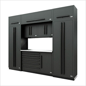 Fusion Pro 9-Piece Tool Cabinet System (Black)