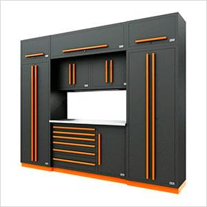 Fusion Pro 9-Piece Tool Cabinet System (Orange)