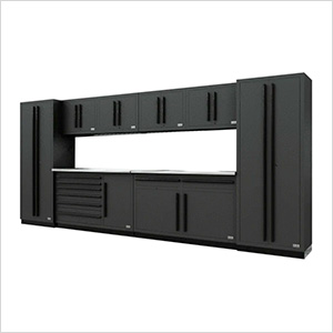 Fusion Pro 10-Piece Tool Cabinet System (Black)