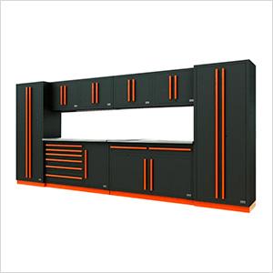 Fusion Pro 10-Piece Tool Cabinet System (Orange)
