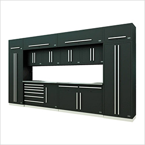 Fusion Pro 14-Piece Garage Cabinet System (Silver)