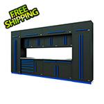 Proslat Fusion Pro 14-Piece Garage Cabinet System (Blue)