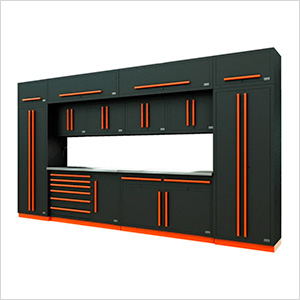 Fusion Pro 14-Piece Garage Cabinet System (Orange)