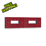 Ulti-MATE Garage Cabinets 18-Piece Cabinet Kit with Channeled Worktops in Ruby Red Metallic