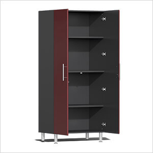 20-Piece Cabinet Kit with Channeled Worktops in Ruby Red Metallic