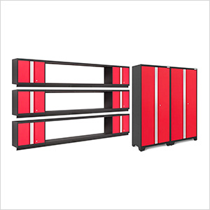 BOLD Series 3.0 Red 11-Piece Garage Cabinet Set