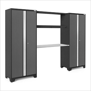 BOLD Series 3.0 Grey 4-Piece Garage Cabinet System with Stainless Worktop