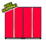 "NewAge Garage Cabinets BOLD 3.0 Series Two 42"" Red Lockers"