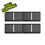 "NewAge Garage Cabinets 4 x BOLD Series 3.0 Grey 36"" Wall Cabinets"