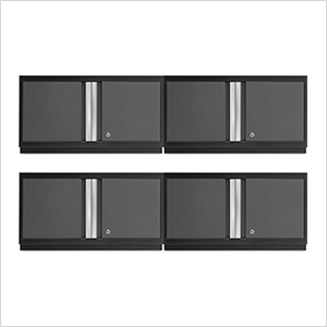 "4 x BOLD Series 3.0 Grey 36"" Wall Cabinets"