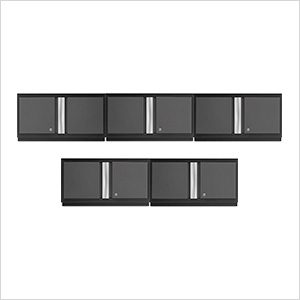 "5 x BOLD Series 3.0 Grey 36"" Wall Cabinets"