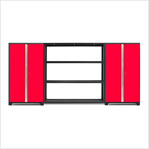 BOLD Series 3.0 Red 3-Piece Garage Cabinet System