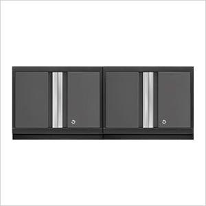 2 x BOLD Series 3.0 Grey Wall Cabinets