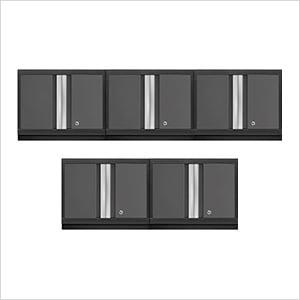 5 x BOLD Series 3.0 Grey Wall Cabinets