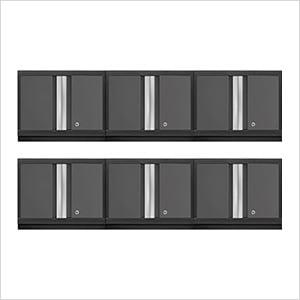 6 x BOLD Series 3.0 Grey Wall Cabinets