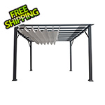 Paragon Outdoor 11 x 11 ft. Florence Pergola (Grey Frame / Silver Canopy)