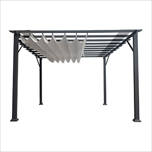 11 x 11 ft. Florence Pergola (Grey Frame / Silver Canopy)