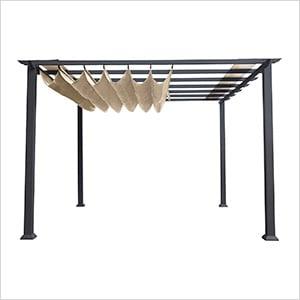 11 x 11 ft. Florence Pergola (Grey Frame / Sand Canopy)