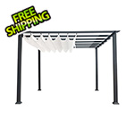 Paragon Outdoor 11 x 11 ft. Florence Pergola (Grey Frame / White Canopy)