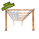 Paragon Outdoor 11 x 11 ft. Florence Pergola (Canadian Wood / Silver Canopy)