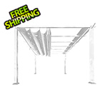 Paragon Outdoor 11 x 11 ft. Florence Pergola (White Frame / Silver Canopy)