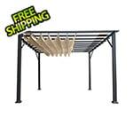 Paragon Outdoor 11 x 16 ft. Verona Aluminum Pergola (Grey Frame / Sand Canopy)