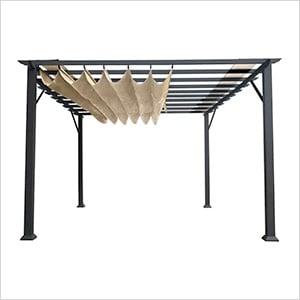 11 x 16 ft. Verona Aluminum Pergola (Grey Frame / Sand Canopy)