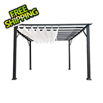 Paragon Outdoor 11 x 16 ft. Verona Aluminum Pergola (Grey Frame / White Canopy)
