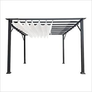 11 x 16 ft. Verona Aluminum Pergola (Grey Frame / White Canopy)