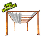 Paragon Outdoor 11 x 16 ft. Verona Aluminum Pergola (Canadian Wood / Silver Canopy)