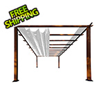 Paragon Outdoor 11 x 16 ft. Verona Aluminum Pergola (Chilean Wood / Silver Canopy)
