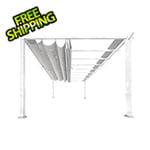 Paragon Outdoor 11 x 16 ft. Verona Aluminum Pergola (White Frame / Silver Canopy)