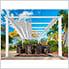 11 x 16 ft. Verona Aluminum Pergola (White Frame / Silver Canopy)
