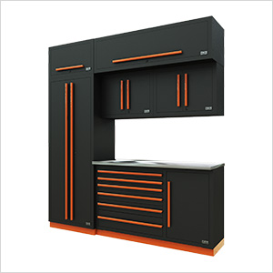 Fusion Pro 7-Piece Tool Cabinet System (Orange)