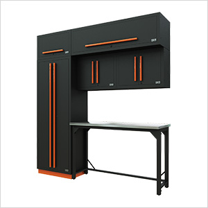Fusion Pro 7-Piece Garage Workbench System (Orange)