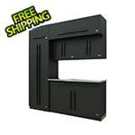 Proslat Fusion Pro 7-Piece Garage Cabinet System (Black)