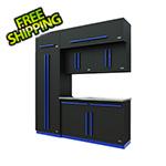 Proslat Fusion Pro 7-Piece Garage Cabinet System (Blue)