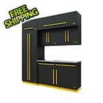 Proslat Fusion Pro 7-Piece Garage Cabinet System (Yellow)