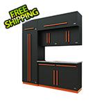 Proslat Fusion Pro 7-Piece Garage Cabinet System (Orange)