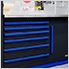 Fusion Pro 10-Piece Tool Cabinet System (Blue)