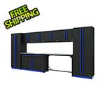 Proslat Fusion Pro 10-Piece Garage Cabinet System (Blue)