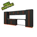 Proslat Fusion Pro 10-Piece Garage Cabinet System (Orange)