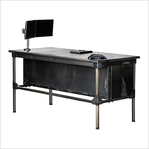 """Ironworks Executive Desk Package - 42"""" Tall"""