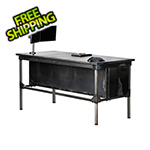 "Rhino Metals Ironworks Executive Desk - 42"" Tall"