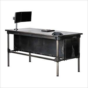 "Ironworks Executive Desk - 42"" Tall"