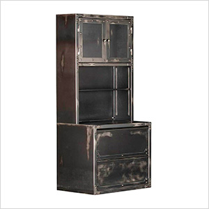 Ironworks Lateral File Cabinet and Hutch